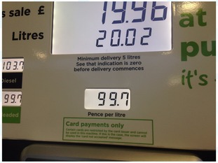 Asda have cut unleaded fuel to 99.7 ppl