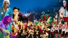 Fairytale festive scene at Donington Park