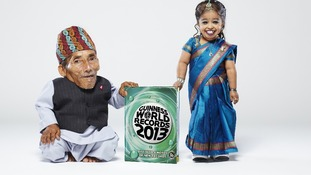 The world's shortest man and woman have met for the first time in history - Chandra Bahadur Dangi (left), and Jyoti Amge (right)