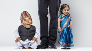 Chandra Bahadur Dangi (left) and Jyoti Amge (right).