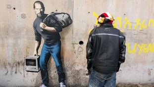 Artist Banksy has left his mark on the so-called