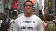 A video appeal by a patient in need of a kidney on MatchingDonors.com