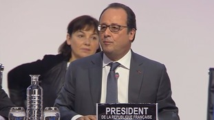 "François Hollande said the deal would be a ""major leap for mankind""."