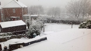 Snow in Heworth, Gateshead today.