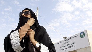 Saudi Arabia holds first ever vote open to women