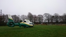 The Air Ambulance in Carlisle.