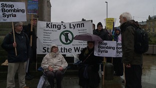 'Vigil' takes place in Wisbech opposing Syrian airstrikes