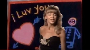 Kylie Minogue in the video for 'I Should Be So Lucky'.