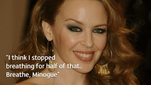 Kylie Minogue said her partner's romantic gesture was 'absolutely beautiful'.