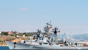 Russian destroyer Smetlivy pictured in 2013
