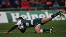 Ben Youngs with his try against Munster