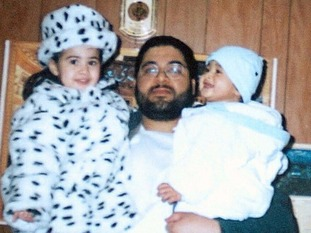 Shaker Aamer with his two eldest children, before he was taken to Guantanamo