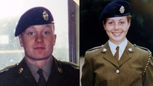 Undated photo of (left) Private James Collinson and (right) Private Cheryl James