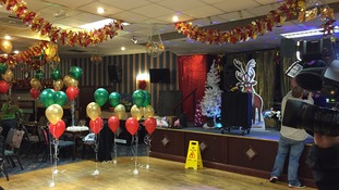 All set for the party at Redcar Workingmen's Club.
