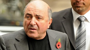 Boris Berezovsky  outside the Royal Courts of Justice in November 2011