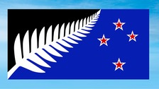 Voters chose a black and blue flag with a silver fern design