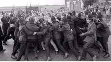 Miners clash with police at Orgreave
