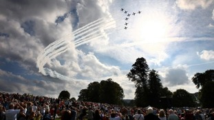 Thousands of visitors go to the Chatsworth Country Fair and are often rewarded with a Red Arrows fly over