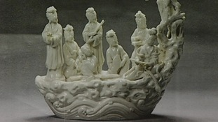 The rare Dehua porcelain figure