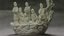 The rare Dehua porcelain figure