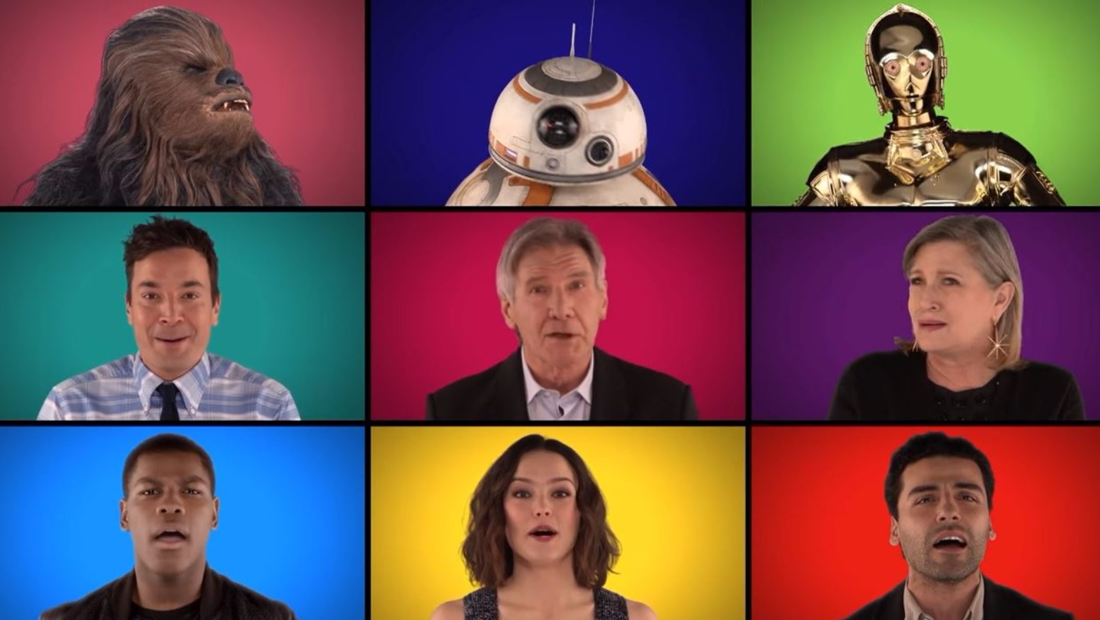 Happy music video celebrity cameos in the force