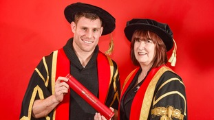 James Milner is installed as Chancellor of the Leeds Children's University
