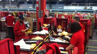 Today 3 million letters and parcels are being sorted here alone.