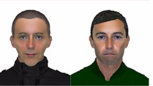 e-fit of two suspects in the shooting and abduction