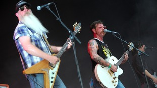 US rock band Eagles of Death Metal, lead by singer and guitarist Jesse Hughes