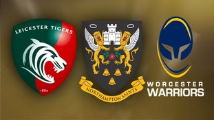 Leicester Tigers, Northampton Saints, Worcester Warriors