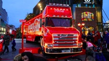 The Coca Cola truck back in 2013