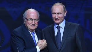 Vladimir Putin: Sepp Blatter should win Nobel Peace Prize