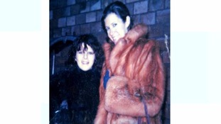 Pam Betts, left, with Carrie Fisher