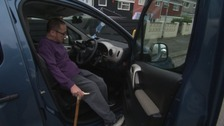 Tim Hill needs his specially adapted car to help him get to work.