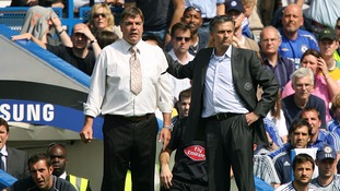 Former Chelsea manager Jose Mourinho (right) with then Sam Allardyce when he was managing  Bolton Wanderers in 2007.