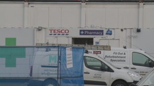The site of Tesco's temporary store