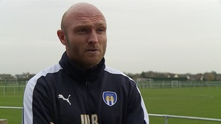 Colchester United's caretaker-manager Wayne Brown