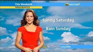 A sunny Saturday, followed by a rainy Sunday