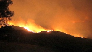 Wildfire reaches Marbella in southern Spain.