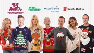 Text Santa Christmas Jumper Day has arrived