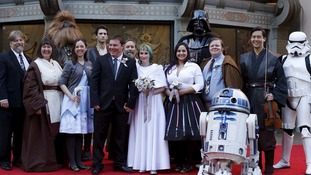 The Force is strong in this Star Wars: The Force Awakens wedding