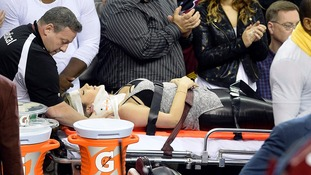 Jason Day's wife Ellie taken to hospital after court-side collision with LeBron James