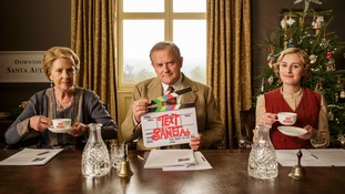 Text Santa: Downton Abbey cast get involved with Christmas charity sketch