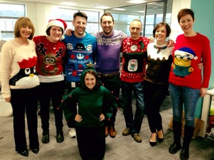 The ITV Tyne Tees crew getting in the spirit