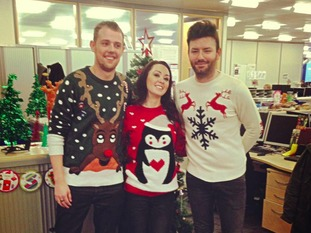 Phil, Danielle and Lewis brightening up the office in Newcastle