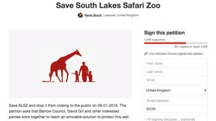 Save South Lakes Safari Zoo campaign