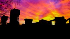 Sunrise on the last day of production at Kellingley Colliery