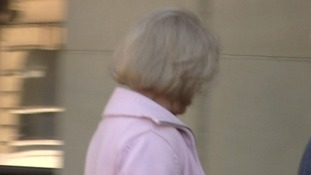 Linda Hirst arriving at court