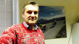 Our reporter David Woodland considered a festive onesie, but went for the classic knit.