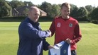 Blackburn's manager Steve Kean with new striker Jordan Rhodes.